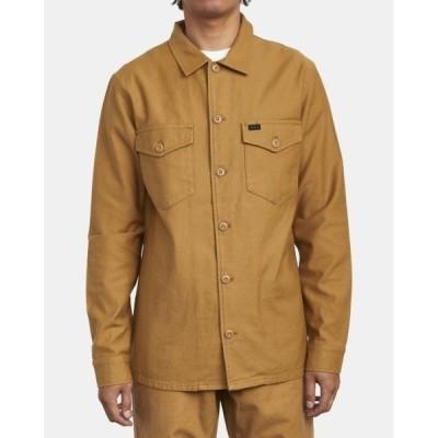 シャツ ブラウス RVCA メンズ FUBAR SHIRT JACKET ロングスリーブシャツ【2020年秋冬モデル】/ルーカ 長袖 シャツ