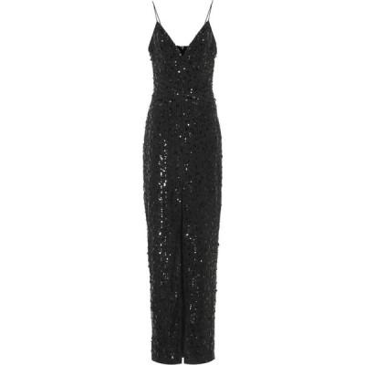 ロサリオ RASARIO レディース パーティードレス ワンピース・ドレス sequined gown Black