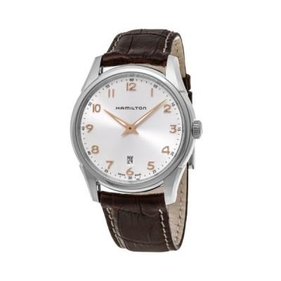 腕時計 ハミルトン Hamilton Jazzmaster Thinline シルバー ダイヤル ブラウン レザー メンズ 腕時計
