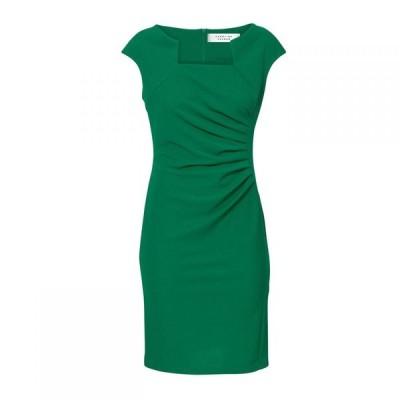 キャロライナ カブール Carolina Cavour レディース ワンピース ワンピース・ドレス Shape Dress With Asymmetric Neck Green