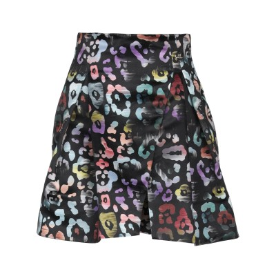 MANGANO ひざ丈スカート ブラック 46 ポリエステル 100% ひざ丈スカート