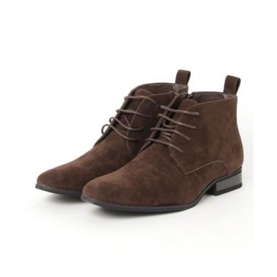 ZealMarket/SFW / プレーントゥレースアップブーツ MEN シューズ > ブーツ