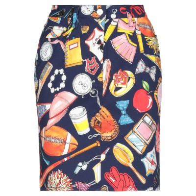 ラブ モスキーノ LOVE MOSCHINO ひざ丈スカート ダークブルー 38 コットン 97% / ポリウレタン 3% ひざ丈スカート