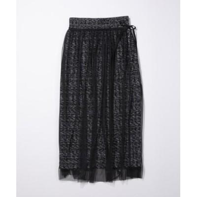 ANAYI/アナイ モノトーンツイードタイトスカート ブラック5 36