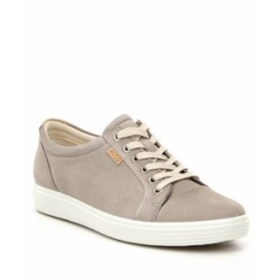 エコー レディース スニーカー シューズ Soft 7 Suede Leather Lace-Up Sneakers Warm Grey Nubuck