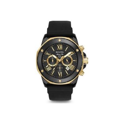 ダニエル・クライン Bulova Mens Marine Star Black & Gold Stainless Chronograph Watch, 98B278