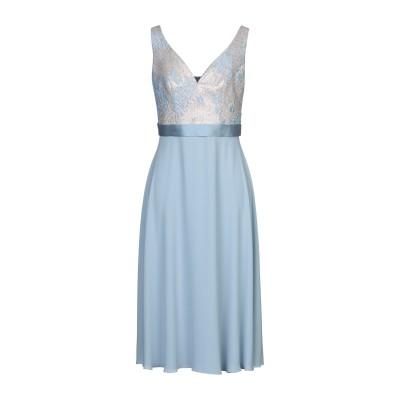 ANTONIO D'ERRICO 7分丈ワンピース・ドレス スカイブルー 42 ポリエステル 80% / 金属 20% 7分丈ワンピース・ドレス