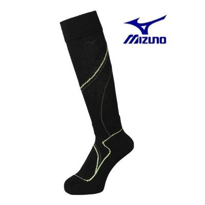 '21ミズノMIZUNOスキー専用メンズ靴下「ブレスサーモスキーソックス」(25〜27cm)Z2JX752045