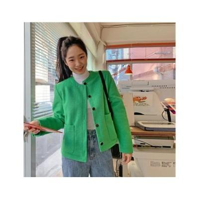 From Beginning レディース ジャケット Sensual Round Wool Jacket