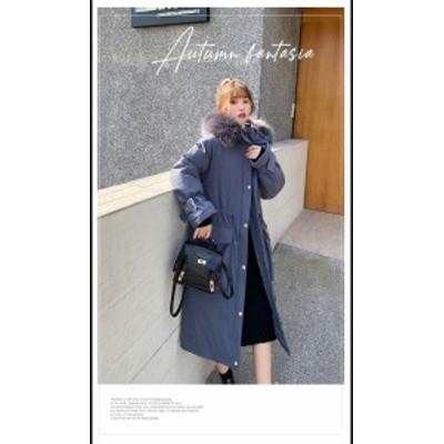 秋冬 ふわふわ ボリュームファー ロング丈 モッズコート3カラー 大きいサイズ レディース オーバーサイズ ストリート 秋冬 ブルー ブラ