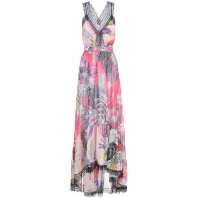 ジャストカヴァリ JUST CAVALLI ロングワンピース&ドレス ローズピンク 40 シルク 100% ロングワンピース&ドレス