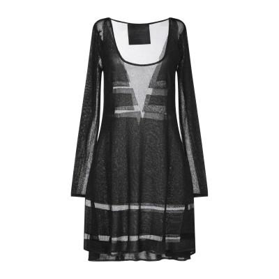 PHILIPP PLEIN ミニワンピース&ドレス ブラック S レーヨン 80% / ポリエステル 20% ミニワンピース&ドレス