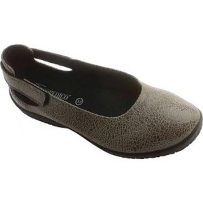 アルコペディコ Arcopedico レディース スリッポン・フラット シューズ・靴 L58 Flat Grey Crackle Synthetic