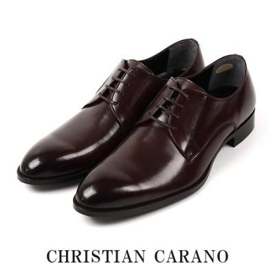 CHRISTIAN CARANO クリスチャンカラノ TK-850 ビジネスシューズ - 本革 プレーントゥ スワール 外羽根 4E 撥水 大きいサイズ キングサイズ