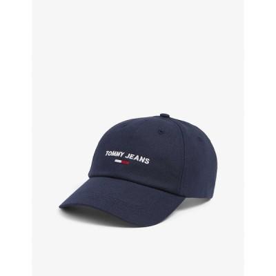 トミー ヒルフィガー TOMMY HILFIGER メンズ キャップ ベースボールキャップ 帽子 Logo-embroidered organic-cotton baseball cap Twilight Navy