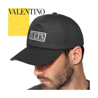 ヴァレンティノ VALENTINO キャップ 帽子 コットン ベースボールキャップ メンズ ガラヴァーニ ブランド 大きいサイズ 深め 黒 ブラック