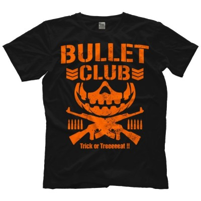 BULLET CLUB バレットクラブ Tシャツ《海外生産 輸入品》「BULLET CLUB Trick or Treat ハロウィン Tシャツ」アメリカ直輸入新日本プロレスTシャツ