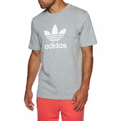 アディダス Adidas Originals メンズ Tシャツ トップス trefoil short sleeve t-shirt Medium Grey Heather