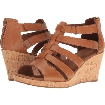 ロックポート Rockport レディース サンダル・ミュール グラディエーター シューズ・靴 Briah Gladiator Dark Tan Leather