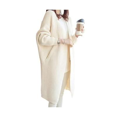 [エンプティオ] リブ編み カーディガン レディース カーデ コーディガン カーデガン ニット 長袖 ロングスリーブ ながそで 長そで 袖あり そであ