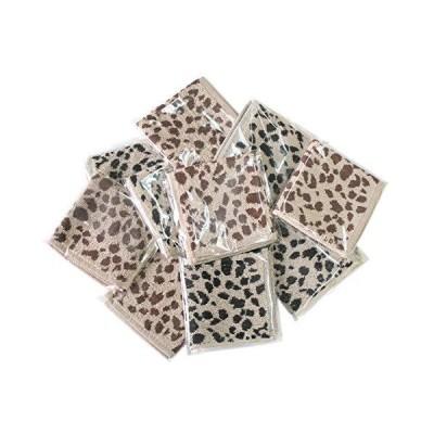 綿100% ひょう柄 タオル ハンカチ 10枚組 (23×23cm)