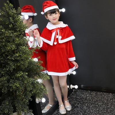 コスプレ 衣装 クリスマス 子供 大人 サンタクロース コスプレ サンタコスチューム衣装 パーティー 仮装 可愛い コスチューム ワンピース