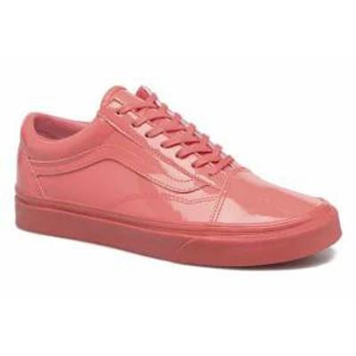 Vans レディーススニーカー Vans Trainers Old Skool W Pink Patent Leather/Sugar