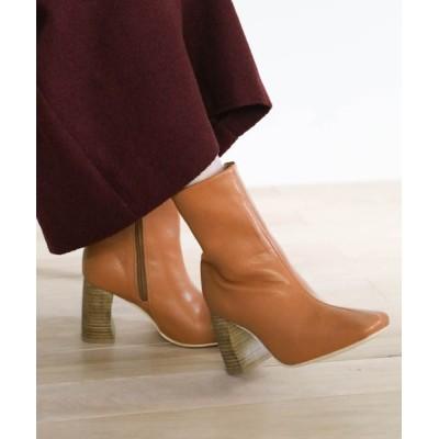 select MOCA / 2020 AW スクエアフェイクレザーブーツ WOMEN シューズ > ブーツ