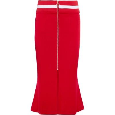 MAGGIE MARILYN 7分丈スカート レッド 8 アセテート 79% / レーヨン 21% 7分丈スカート