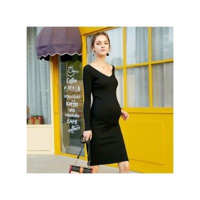 タイト ニット マタニティドレス フォーマル パーティードレス お呼ばれドレス kh-1191