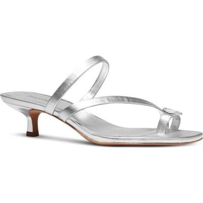 マイケル コース Michael Kors レディース サンダル・ミュール シューズ・靴 Letty Kitten-Heel Dress Sandals Silver