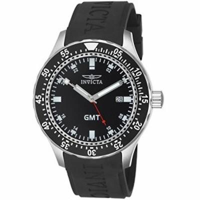 Invicta Mens 11255 Specialty GMT Black Dial Black Polyurethane Watch