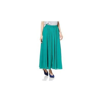 アダムエロペ スカート WEB限定カラーロングスカート レディース GAC59050 黄緑 日本 F (FREE サイズ)