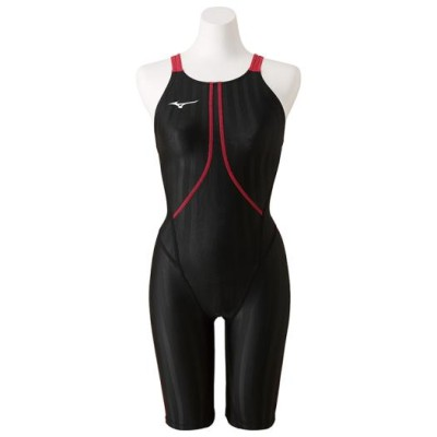 ミズノ 競泳用ハーフスーツ[レディース] 97ブラック×ローズ S スイム 競泳水着 ストリームアクセラ N2MG8223