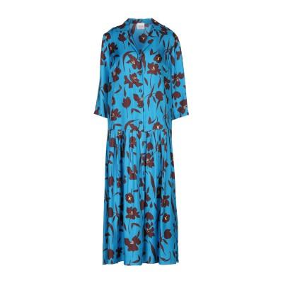 アリジ ALYSI 7分丈ワンピース・ドレス アジュールブルー 42 シルク 100% 7分丈ワンピース・ドレス