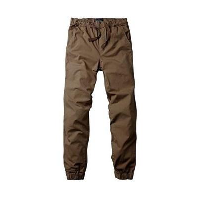 Matchstick チノパン 裾ゴム調整 ゆったり 迷彩 ジョガーパンツ ロングパンツ 大きいサイズ メンズ #6535(L/32, カー