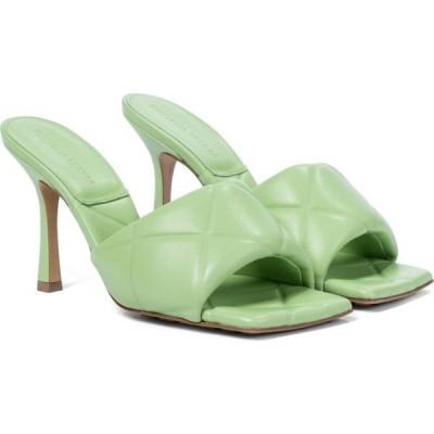 ボッテガ ヴェネタ Bottega Veneta レディース サンダル・ミュール シューズ・靴 bv rubber lido leather sandals Pistachio