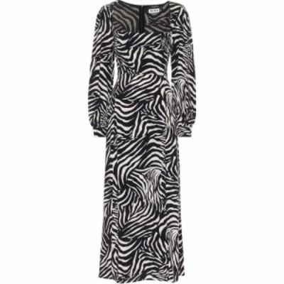 リキソ Rixo レディース ワンピース ミドル丈 ワンピース・ドレス Mara Zebra-Print Midi Dress Zebra Mono Mid