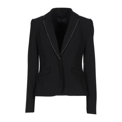 アルマーニ ジーンズ ARMANI JEANS テーラードジャケット ブラック 42 ポリエステル 63% / レーヨン 33% / ポリウレタン