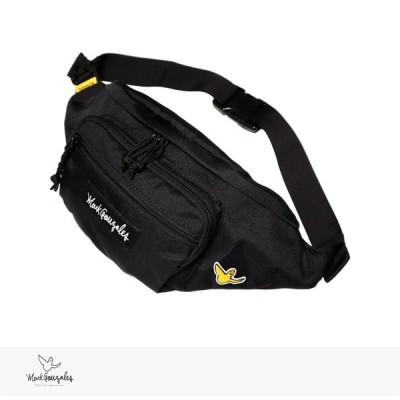 マークゴンザレス MARK GONZALES WAIST BAG 2020 F/W ウエスト バッグ ポーチ ファニーパック ボディ ボックスロゴ ワッペン ブラック 黒
