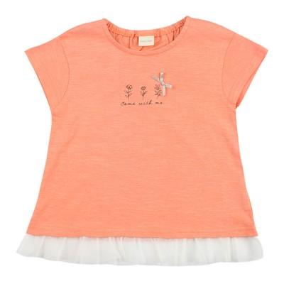 [キッズ] 半袖Tシャツ 裾チュール ピンク 110 ベビー・キッズウェア キッズ(100~120cm) トップス(女児) 赤ちゃん本舗(アカチャンホンポ)