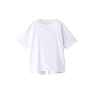 unfil アンフィル オーガニックコットンバックスリットTシャツ レディース ホワイト 1