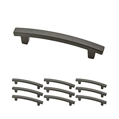 送料無料 Franklin Brass P29615K-SI-B Soft Iron 10cm Pierce Kitchen or Furniture Cabinet Hardware Drawer Handle Pull, 10 pack