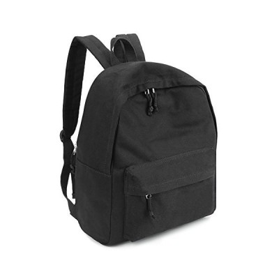 【並行輸入品】Zicac Unisex DIY Canvas Backpack Daypack Satchel for Man and Women (Black)