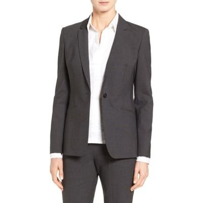 ヒューゴ ボス BOSS レディース スーツ・ジャケット アウター Jabina Tropical Stretch Wool Jacket Charcoal