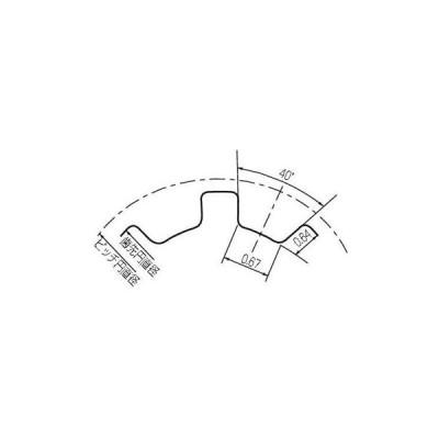 パワーグリップタイミングプーリ MXLタイプ(棒状・アルミタイプ) ゲイツ・ユニッタ・アジア P12MXL60-33