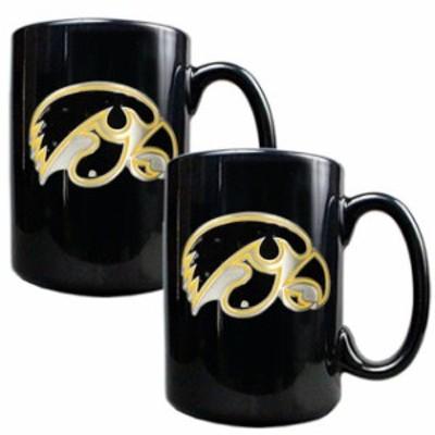 Great American Products ゲット アメリカン プロダクツ スポーツ用品  Iowa Hawkeyes Black 15oz. Coffee Mug Set