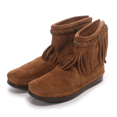 ミネトンカ MINNE TONKA HI TOP BACK ZIP BOOT (Dusty Brown)