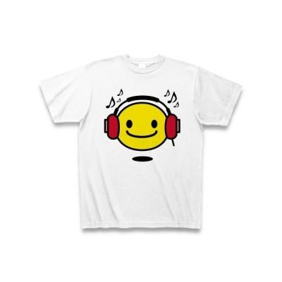 【音楽】niconico music【スマイル】 Tシャツ(ホワイト)