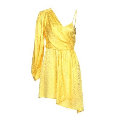 VICOLO ミニワンピース&ドレス イエロー M ポリエステル 96% / ポリウレタン 4% ミニワンピース&ドレス